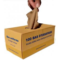 Boite carton de 100 bas d'essayage toutes tailles