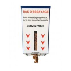 Distributeur de bas d'essayage avec recharge de500 bas